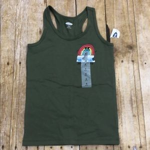 NWT Old Navy Girls Rainbow Chaser Fitted Tank S